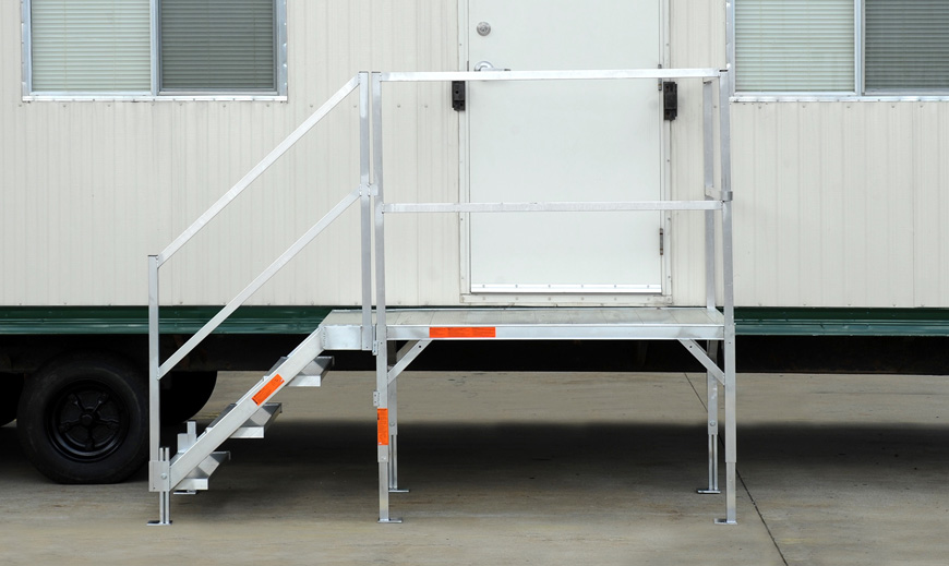 Mobile Trailer Exterior Steps